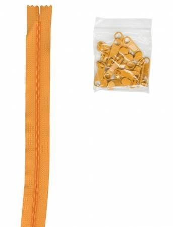 Zippers By The Inch 16mm #4.5 zipper chain Papaya