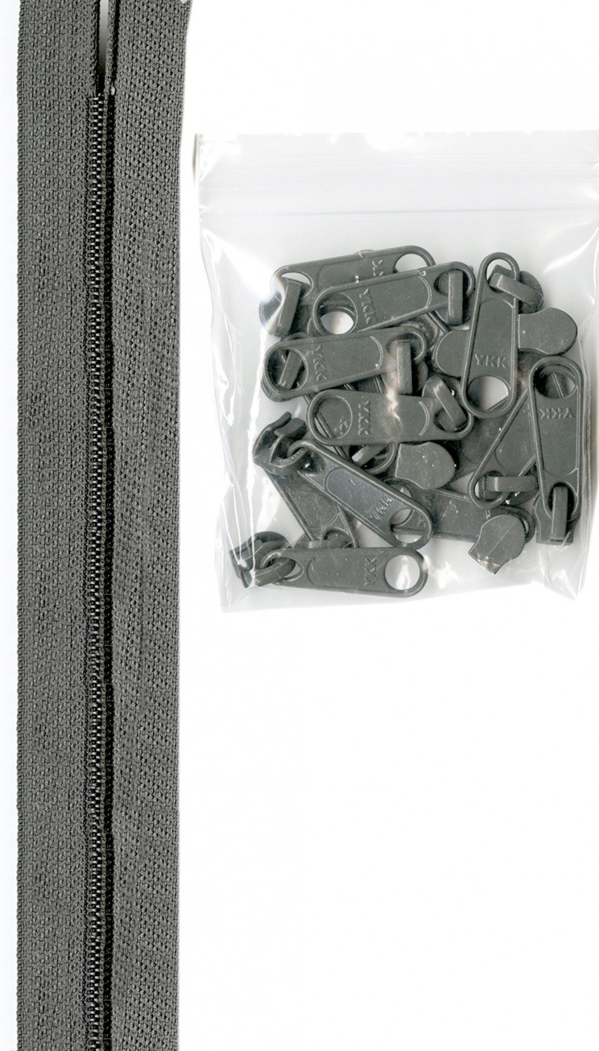 Zippers By The Inch 16mm #4.5 zipper chain Pewter