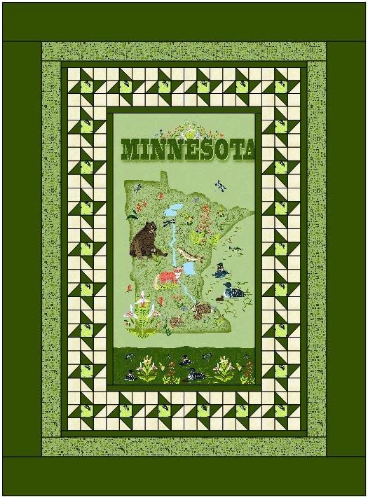 Minnesota Friendship Quilt - Green