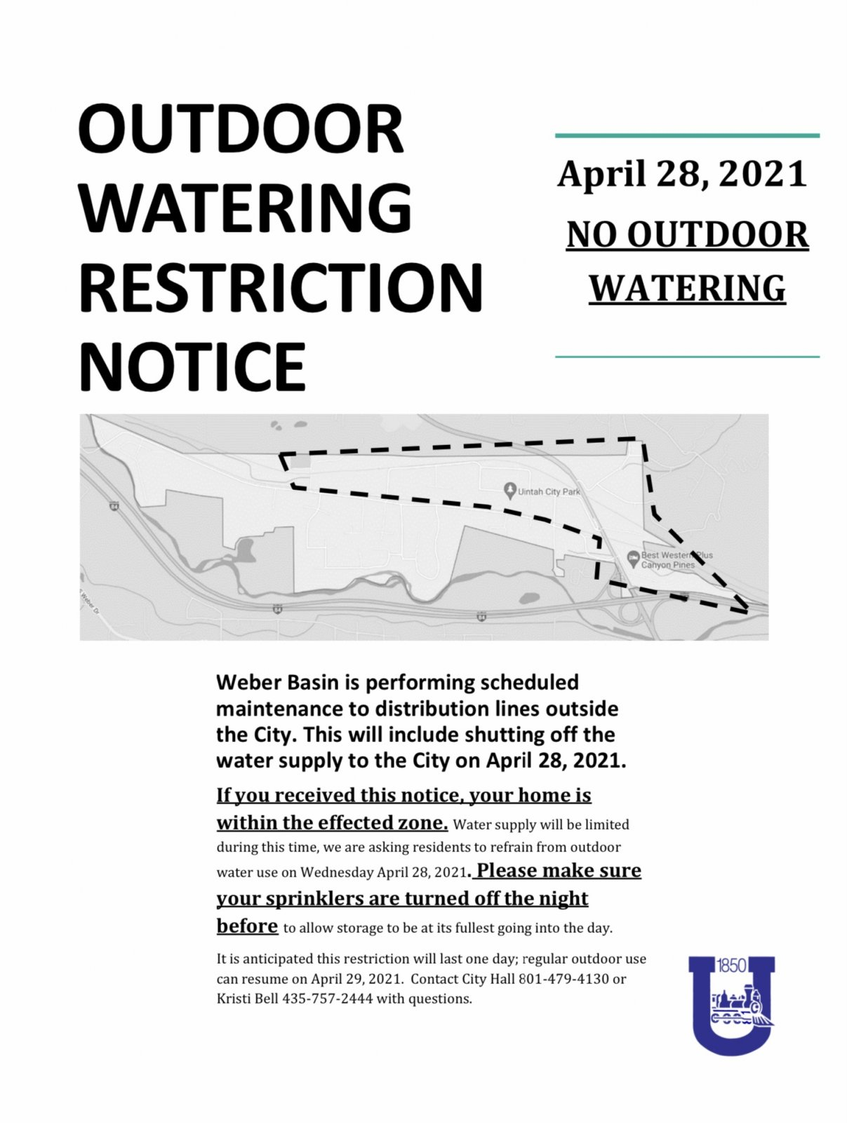 Outdoor Watering Restriction