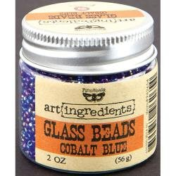 Art Ingredients Glass Beads - Cobalt Blue