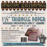 1-1/2 Triangle Paper Primitive Gatherings (Charms)
