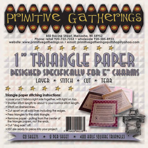 1 Triangle Paper Primitive Gatherings (Charms)