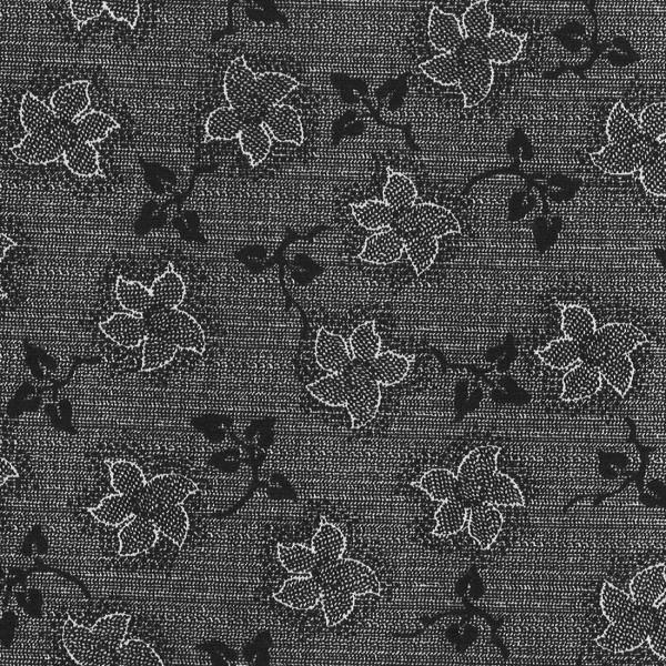 Vintage Lacy Floral Mourn Black