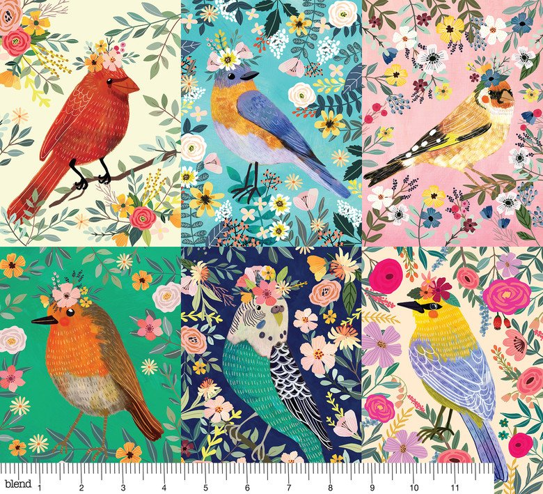Birdie Collection - Birdie Panel Multi