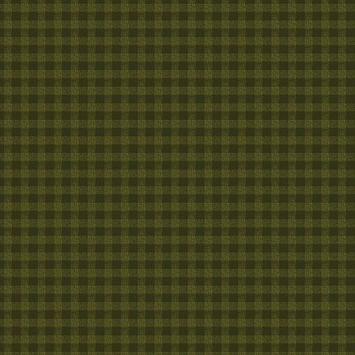 A Moose for Christmas Gingham Dark Green