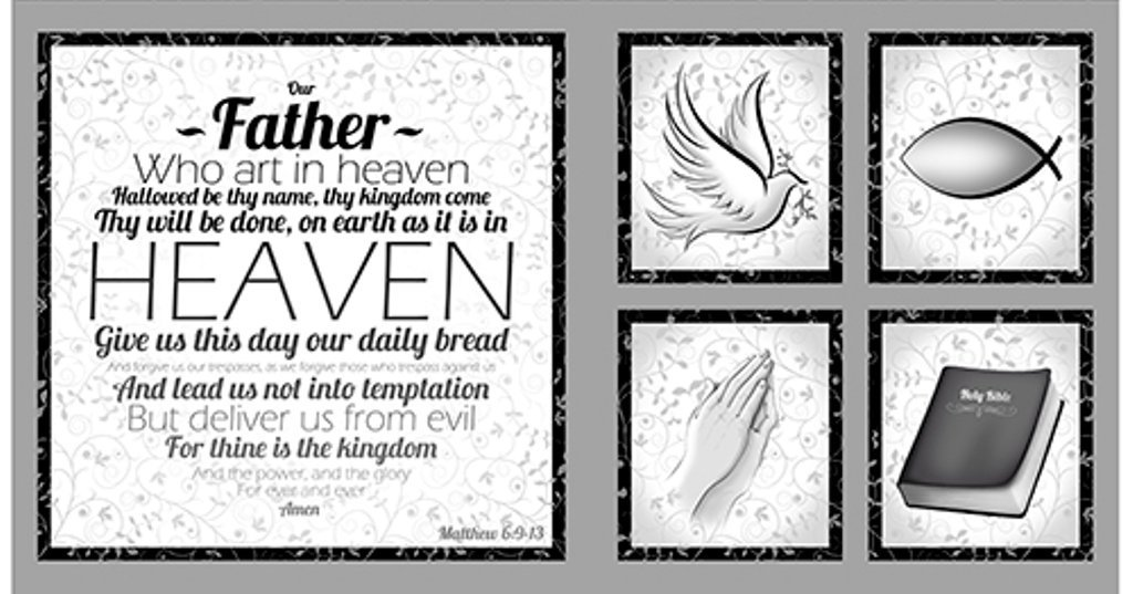 Our Father Panel Grey - 24 x 45