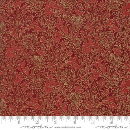 Morris Holiday Metallic Thistle Crimson