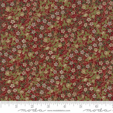 Morris Holiday Metallic Clover Crimson