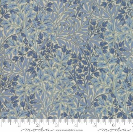 Morris Holiday Metallic Foliage Light Blue