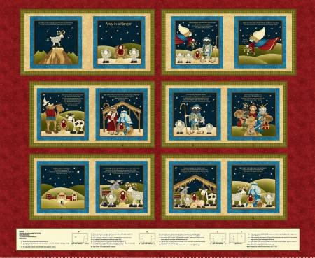 Away In A Manger - Fabric Book