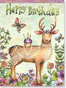 Birthday Card: Deer