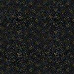 Folk Art Flannel 2 - Black Small Floral