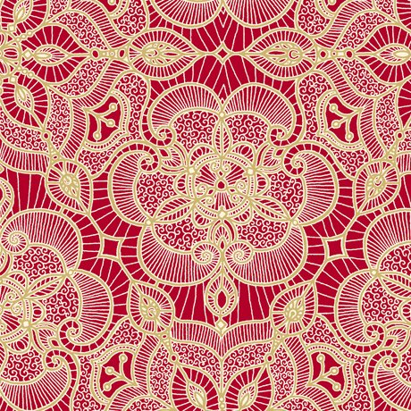 Luminous Lace Medallion Red