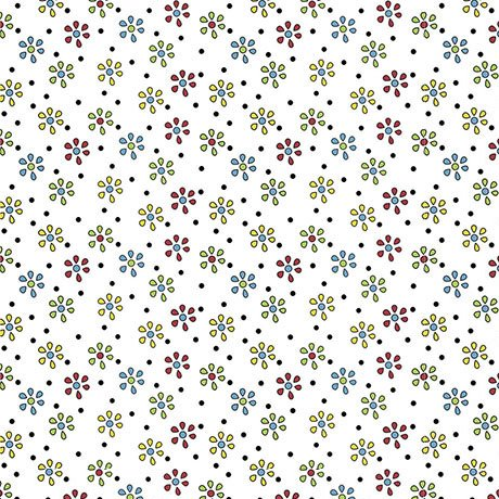 Patchwork Farms - Small Flower White