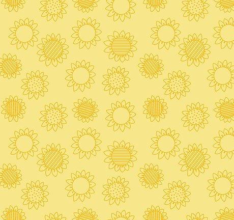 Patchwork Farms - Sunflower Linework, Sunflower Yello