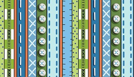 Patchwork Farms - Decorative Stripe Blue