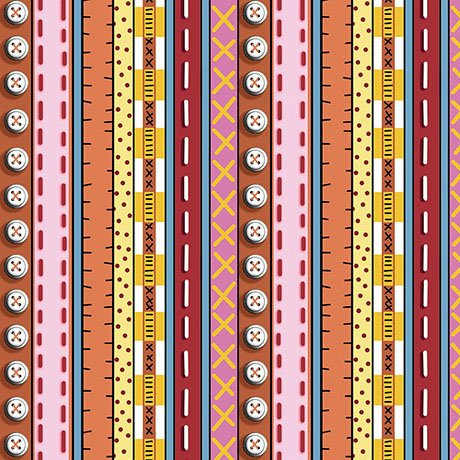 Patchwork Farms - Decorative Stripe Red