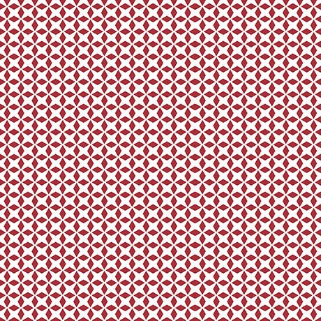 Patchwork Farms - Geo Grid - Red