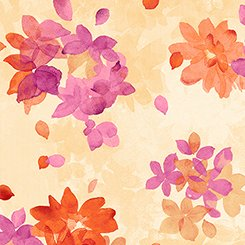 Soiree - Spaced Watercolor Floral - Yellow