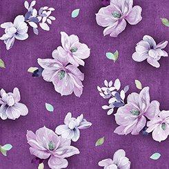 Jacqueline - Tossed Flowers Plum