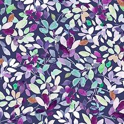 Jacqueline - Leaves Dark Grape