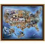 Sew & Go VII - United States Animal Map Panel