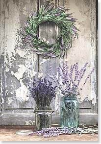 Blank Card - Lavender Wreath