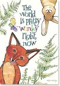 Encouragement Card: Fox & Rabbit