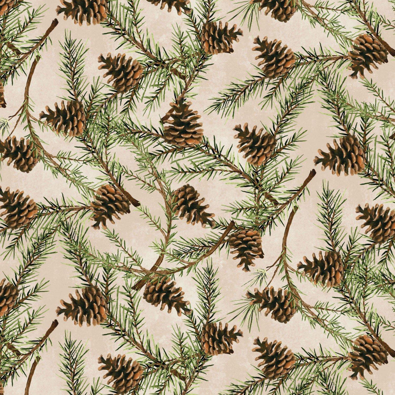 Christmas in The Wildwood - Pinecones Tan