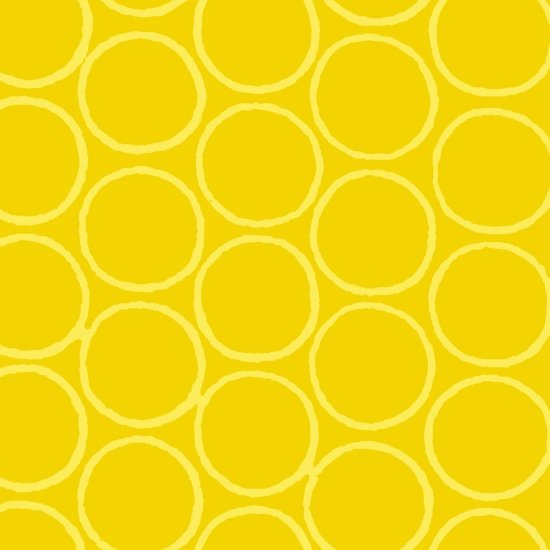 Modern Batiks Circles - Yellow