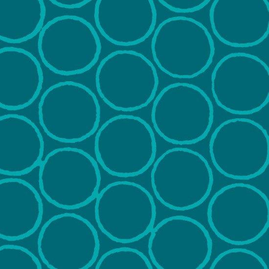 Modern Batiks Circles - Dark Turqouise