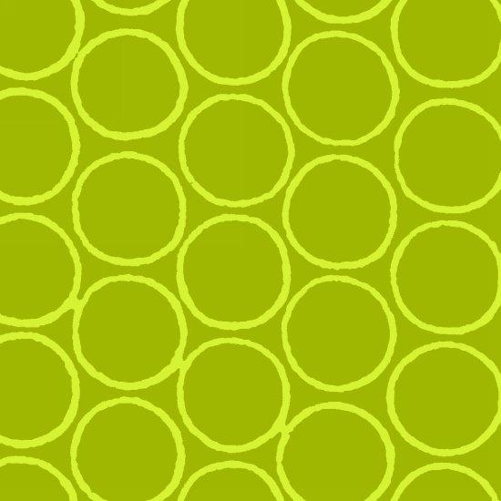 Modern Batiks Circles - Lime Green