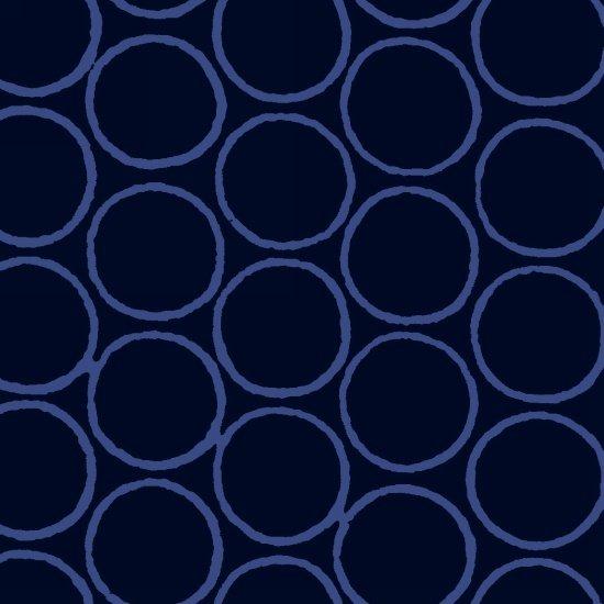 Modern Batiks Circles - Dark Blue