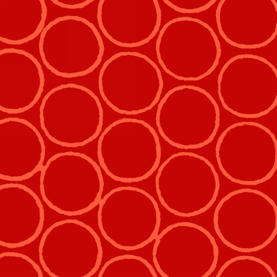 Modern Batiks Circles - Orange/Red