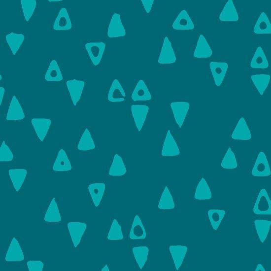 Modern Batiks Triangle - Dark Turqouise
