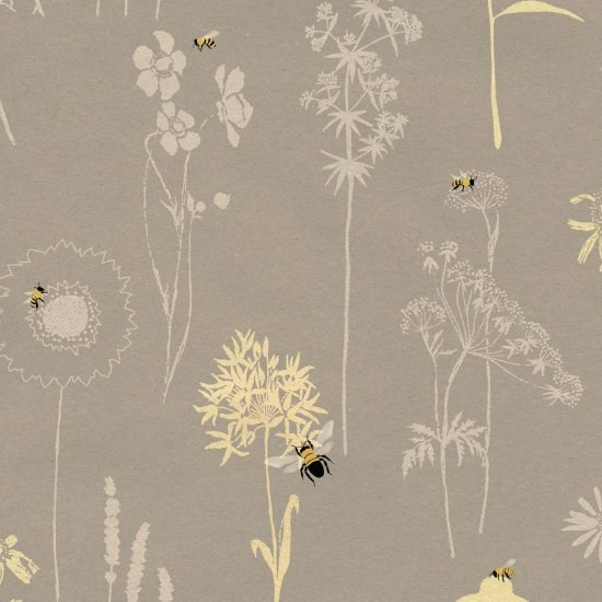 Save Our Bees Flower Outlines Gray