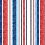 Anchors Away - Blue/Red Textured Stripe