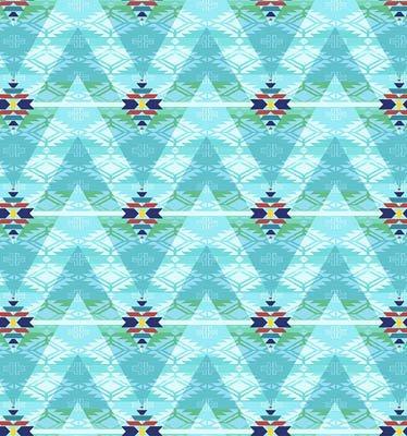 Pow Wow -  Columns - Blue