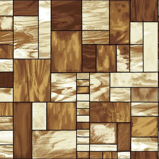 Mosaic Forest - Brown Mosaic Glass