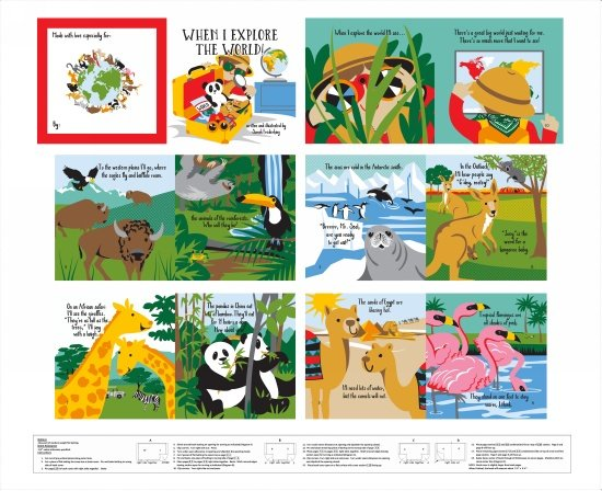 Little Explorers - Fabric Book