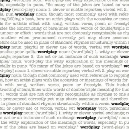 Wordplay - White Word Play Script