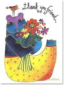 Thank You Card: Thank You Friend Bear