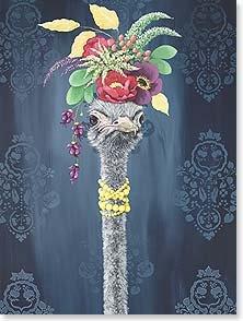 Birthday Card: Ostrich