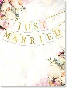 Wedding Card: Just Married