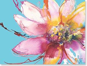 Birthday Card: Large Flower