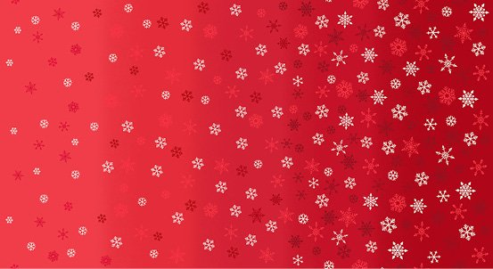 Scandi 2021 - Red Ombre Snowflake