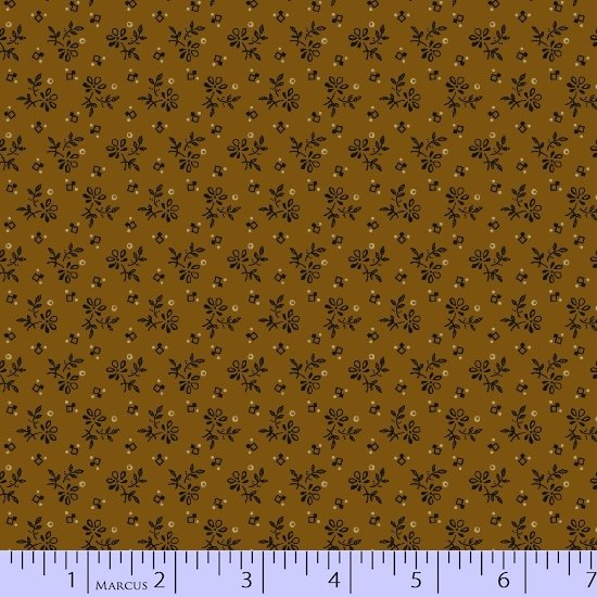 Prairie Shirtings - Gold Floral