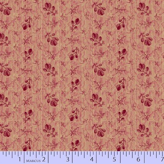 American Swatch Book  - Pink Leaf Floral