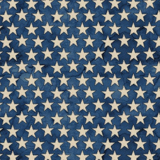 American Honor - White Stars on Blue Background